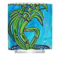 Bamboo Twist Shower Curtain by Ecinja Art Works