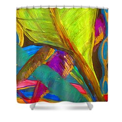 Banana Leaves - Baoma Kpengeh Sierra Leone  Shower Curtain