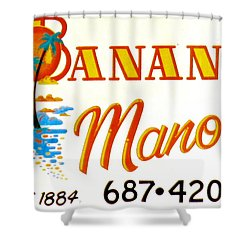 Banana Manor Shower Curtain