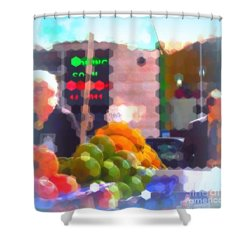 Shower Curtain featuring the photograph Banana - Street Vendors Of New York City by Miriam Danar