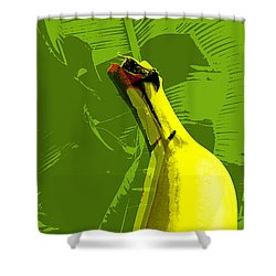 Shower Curtain featuring the digital art Banana Pop Art by Jean luc Comperat