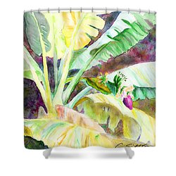 Banana Tree Shower Curtain by C Sitton