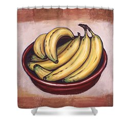 Bananas Shower Curtain by Linda Mears