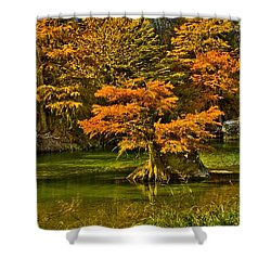 Bandera Falls On Medina River Shower Curtain