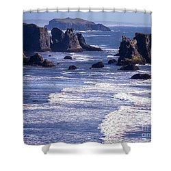 Bandon Beach Seastacks 6 Shower Curtain by Tracy Knauer