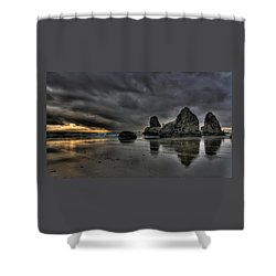 Bandon Beach Storm Shower Curtain