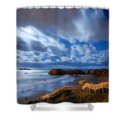 Bandon Nightlife Shower Curtain by Darren  White