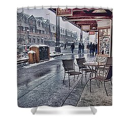 Banff Avenue Shower Curtain