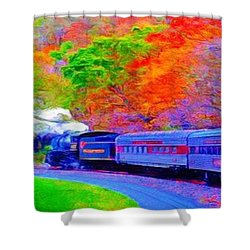 Bang Bang Choo Choo Train-a Dreamy Version Collection Shower Curtain