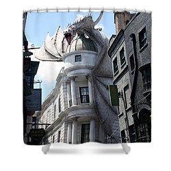 Bank Guard Shower Curtain by David Nicholls