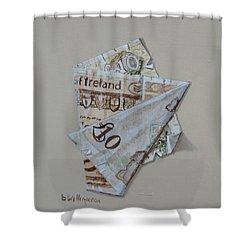 Bank Of Ireland Ten Pound Banknote Shower Curtain