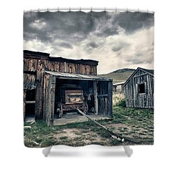 Bannack Carriage House Shower Curtain by Renee Sullivan