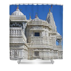 Baps Marble Mandir In Toronto Shower Curtain by Lingfai Leung