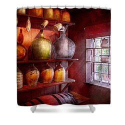 Bar - Bottles - Check Out These Big Jugs  Shower Curtain by Mike Savad