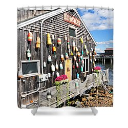 Bar Harbor Restaurant Shower Curtain