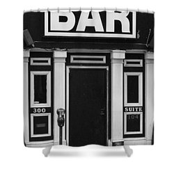 Shower Curtain featuring the photograph Bar by Rodney Lee Williams
