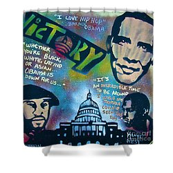 Barack And Common And Kanye Shower Curtain by Tony B Conscious