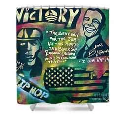 Barack And Mos Def Shower Curtain by Tony B Conscious