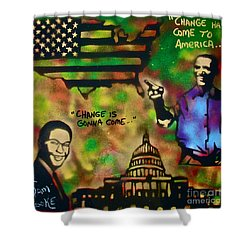 Barack And Sam Cooke Shower Curtain by Tony B Conscious
