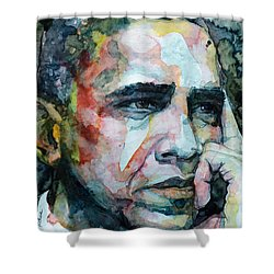 Barack Shower Curtain