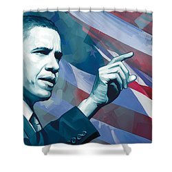 Barack Obama Artwork 2 Shower Curtain by Sheraz A