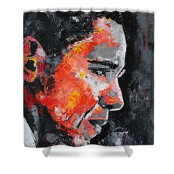 Barack Obama Shower Curtain by Richard Day
