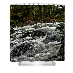 Baranof River Shower Curtain by Robert Bales