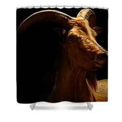 Barbary Sheep Portrait Shower Curtain by Lourry Legarde