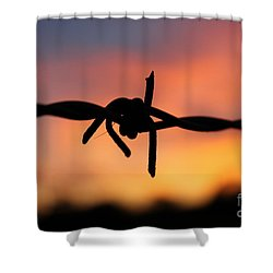 Shower Curtain featuring the photograph Barbed Silhouette by Vicki Spindler