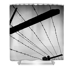 Barbed Wire Fence Shower Curtain by Michal Bednarek