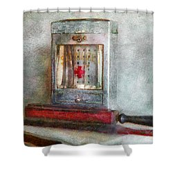 Barber - Always Keep It Clean  Shower Curtain by Mike Savad