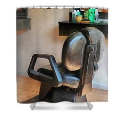 Barber - Barber Chair And Hair Supplies Shower Curtain by Susan Savad