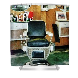Barber - Barber Chair Front View Shower Curtain by Susan Savad