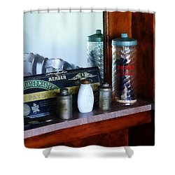 Barber - Barber Supplies Shower Curtain by Susan Savad
