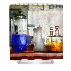 Barber - Blueberry Flavored Thanks For Asking Shower Curtain by Mike Savad