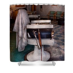 Barber - Frenchtown Nj - We Have Some Free Seats  Shower Curtain by Mike Savad