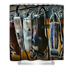 Barber -  Hair Clippers Shower Curtain