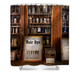 Barber - Hair Dye Shower Curtain by Mike Savad