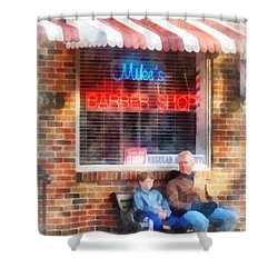 Barber - Neighborhood Barber Shop Shower Curtain