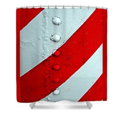 Barber Pole Shower Curtain by Chris Berry