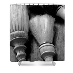 Barber Shop 13 Bw Shower Curtain