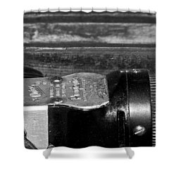 Barber Shop 2 Bw Shower Curtain
