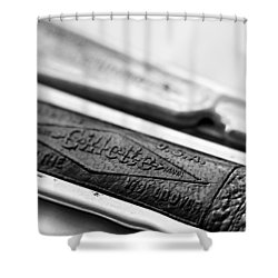 Barber Shop 21 Bw Shower Curtain