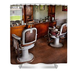 Barber - The Hair Stylist Shower Curtain by Mike Savad