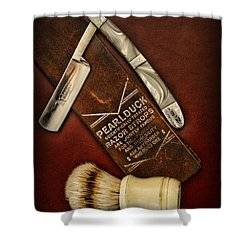 Barber - Tools For A Close Shave  Shower Curtain