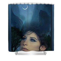 Barbra's Smiling Moon Shower Curtain