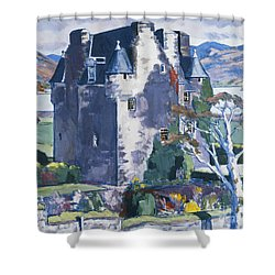 Barcaldine Castle Shower Curtain by Francis Campbell Boileau Cadell