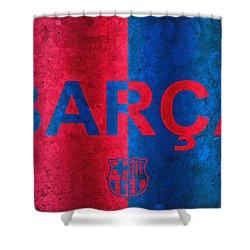 Barcelona Football Club Poster Shower Curtain