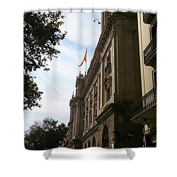 Barcelona Street Shower Curtain