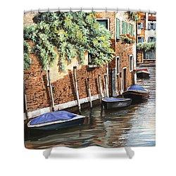 Barche A Venezia Shower Curtain by Guido Borelli